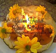 Custom Figural Candle Working