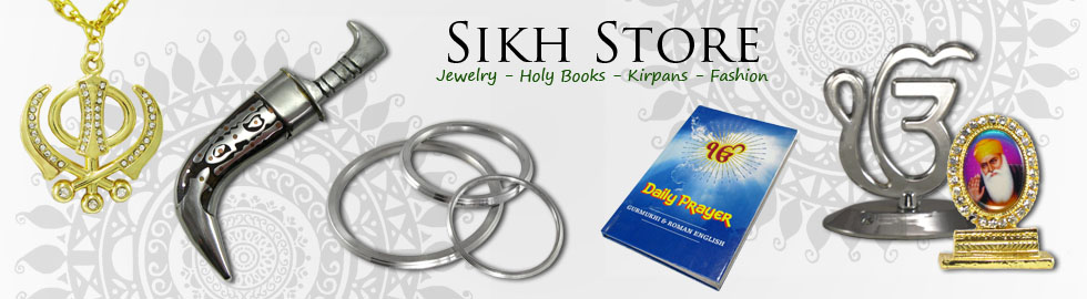 Sikh Store - Jewelry Holy Books Icons Kirpans