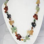 """Natural Gemstone Cluster Necklace 20"""""""