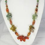 """Natural Gemstone Cluster Necklace 22"""""""