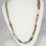 """Natural Gemstone Cluster Necklace 25"""""""