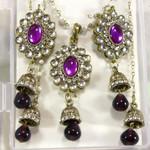 Purple Earring Necklace Set