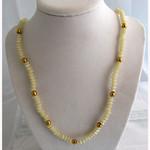"White Plastic Necklace 23"""