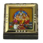 Shiva Family Religious Icon Square