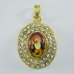 Guru Nanak Oval Pendant with 22 Inch Necklace