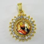 Guru Gobind Singh Starred Round Pendant with 22 Inch Necklace