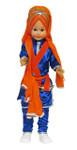 Large Sikh Singh Toy Doll - Orange