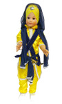 Large Sikh Singh Toy Doll - Yellow