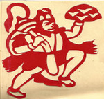 Red Vinyl Hanuman Sticker
