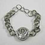 Metal Khanda Symbol Chain Bracelet