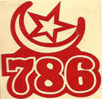 Red Vinyl Islam 789 Sticker