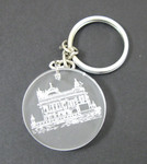 Etched Plastic Golden Temple Keychain