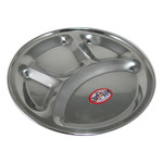 Stainless Steel Mess Tray - Sectioned Serving Plate