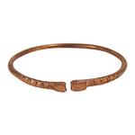 Copper Kada Bracelet with Folded Ends - Hindu Kara
