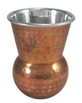 Stainless Steel with Hammered Copper Tumbler Glass
