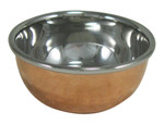 Stainless Steel with Hammered Copper Katori  Serving Dish