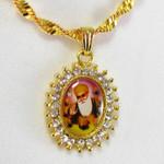 Guru Nanak Sunburst Oval Necklace