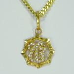 Ik Oankar Gold Color Symbol Necklace