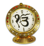 Ek Onkar Symbol Clock with Red Stones