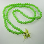 108 Bead Green Plastic Mala - Taksali Made, Consecrated