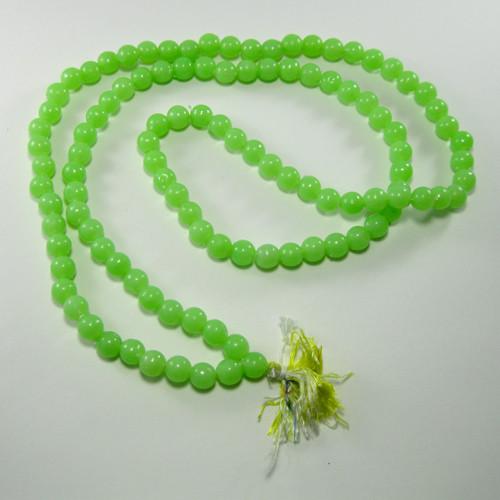 108 Bead Green Plastic Mala - Taksali Made, Consecrated