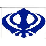 BlueVinyl Khanda Decal 9x6 Inches