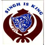 Red Vinyl Khanda Decal Singh Is King