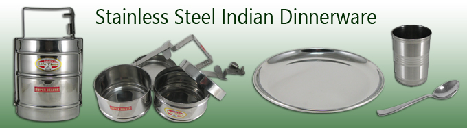 stainless steel indian dinnerware