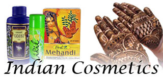 Indian Cosmetics and Henna Powder Mehendi Supplies