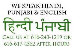 We speak Punjabi, English and Hindi