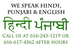 We speak Punjabi, English and Hindi