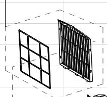 Indoor air inlet grille for (UPPER FILTER) ARC-08WB