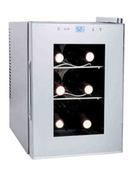 Haier 6-Bottle Capacity Platinum Wine Cellar with Touch Screen Light - HVTS06BSS