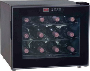 Haier 12-Bottle Capacity Thermoelectric Onyx Wine Cellar - HVUE12ABB