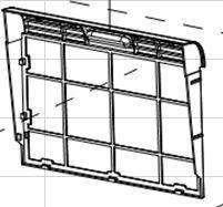 Rear panel assembly for ARC-10WB - Filter Frame