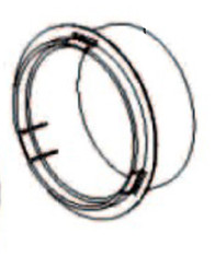 Hose plastic flange for Whynter ARC-13S ARC-13W (non-transparent)
