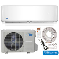 MSFS-009H11517-01NE Whynter Mini Split Inverter Ductless Air Conditioner System & Heat Pump Full Set SEER 17 9000 BTU 115V