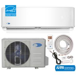 MSFS-012H11522-01ES Whynter EnergyStar Mini Split Inverter Ductless Air Conditioner System & Heat Pump Full Set SEER 22 12000 BTU 115V