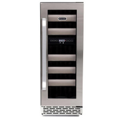 BWR-171DS Whynter Elite 17 Bottle Seamless Stainless Steel Door Dual Zone Built-in Wine Refrigerator