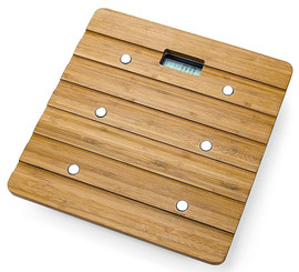 Whynter Bamboo Natural Bathroom Scale