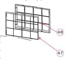 Whynter ARC-12SD/H Filter frame part