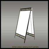Image of SKU# X-KIT-AF-3624-SI-ORN Ornamental A-Frame kit includes sign blank