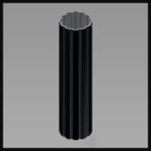 Round Aluminum Poles (Fluted)