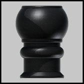 Customary Finial fits Round Poles