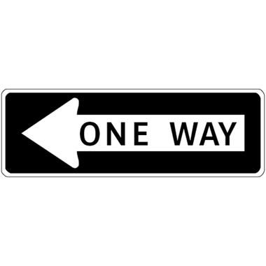 SKU # X-SIGN-R6 One Way arrow points left