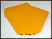 """Aluminum Blank 12"""" x 12"""" Safety Yellow (2nd's)"""