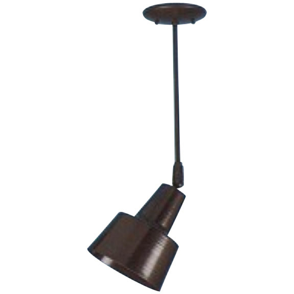 Tiered-shade Ceiling Fixture on Stem