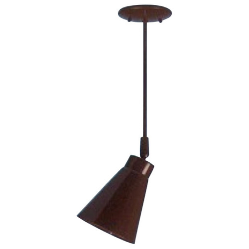 Tapered Shade Ceiling Fixture on Stem