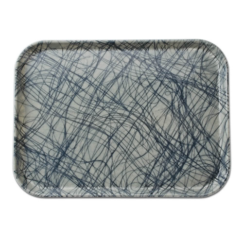 Fiberglass Tray in Grey Swirl Pattern (various sizes)