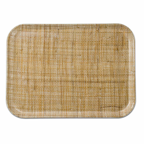 Fiberglass Tray with Rattan Inlay Pattern (various sizes)
